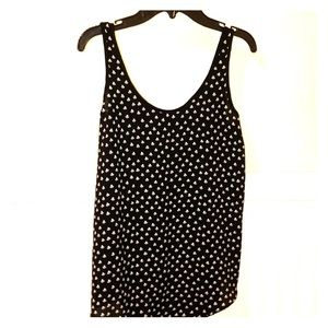 Loft Black and white scoop neck tank top size XS